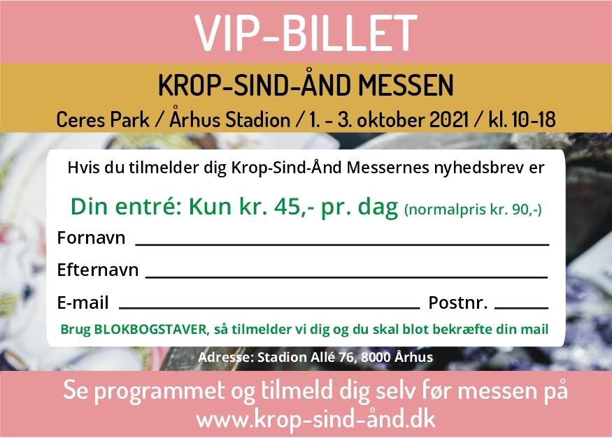 Krop-Sind-Ånd Århus VIP-Billet